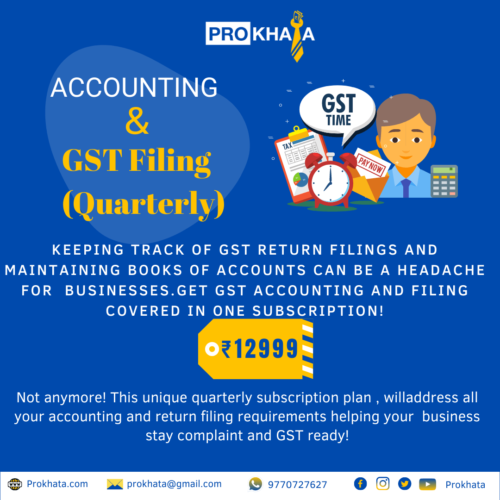 Accounting & GST Filing (Quarterly)