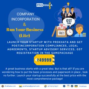 Company Incorporation & Run Your Business (Lite)