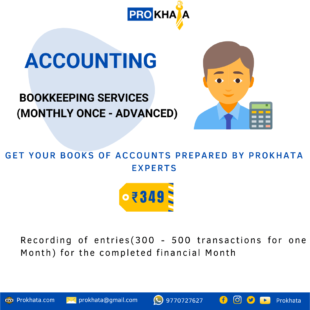 Bookkeeping Services (Monthly Once - Advanced)