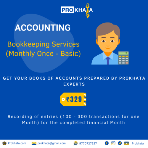 Bookkeeping Services (Monthly Once - Basic)
