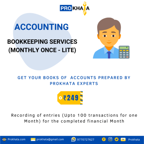 Bookkeeping Services (Monthly Once - Lite)