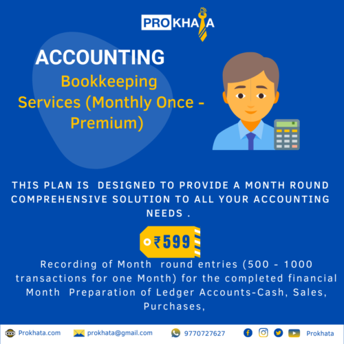 Bookkeeping Services (Monthly Once - Premium)