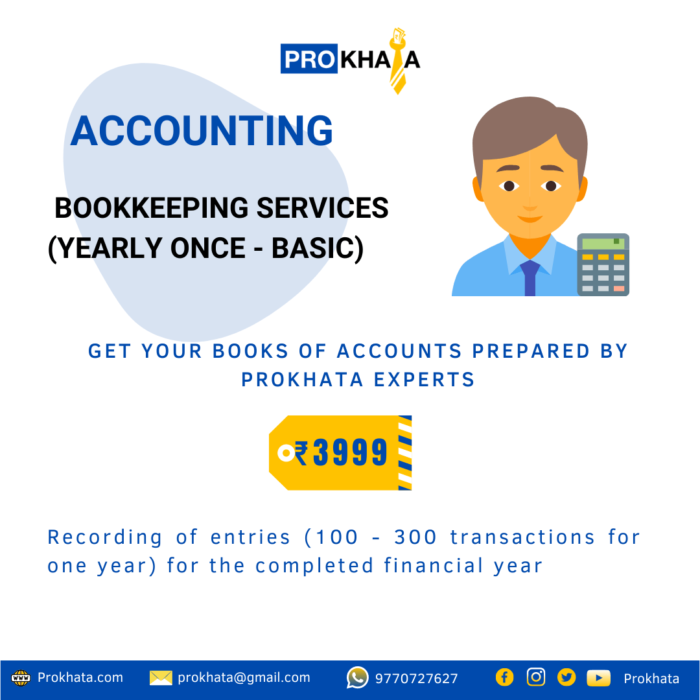 Bookkeeping Services (Yearly Once - Basic)