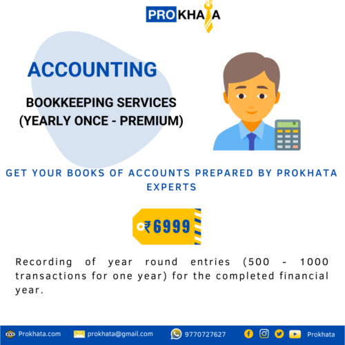 Bookkeeping Services (Yearly Once - Premium)