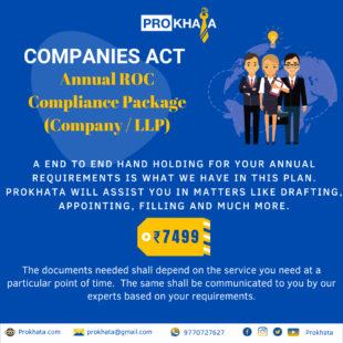 Annual ROC Compliance Package (Company / LLP)