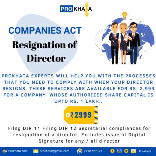 Resignation of Director COMPANIES ACT
