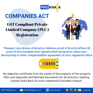GST Compliant Private Limited Company ( PLC ) Registration
