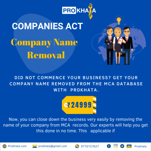 Company Name Removal COMPANIES ACT