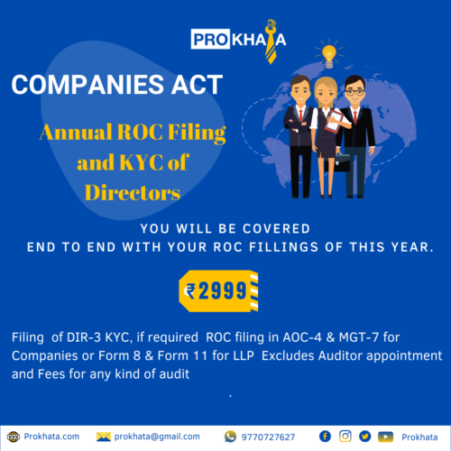 Annual ROC Filing and KYC of Directors COMPANIES ACT