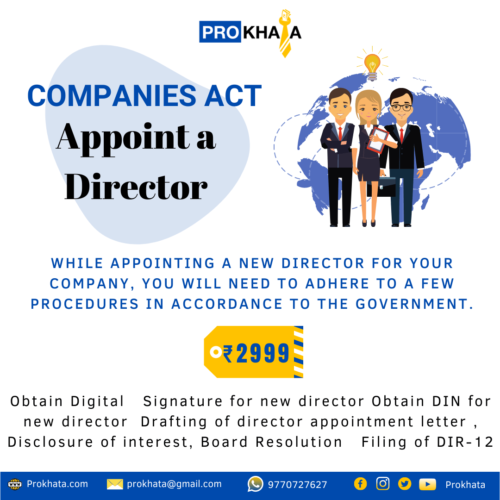 Appoint a Director COMPANIES ACT