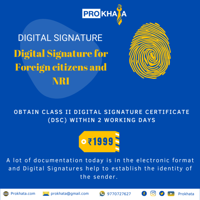 Digital Signature for Foreign citizens and NRI