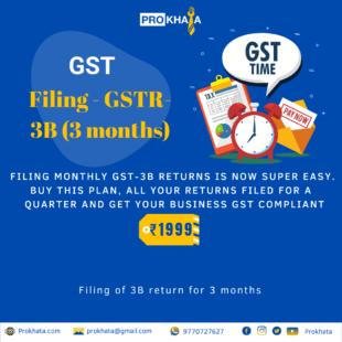 GST Filing - GSTR - 3B (3 months)