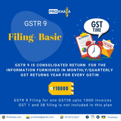 GSTR 9 Filing - Basic