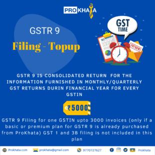 GSTR 9 Filing - Topup