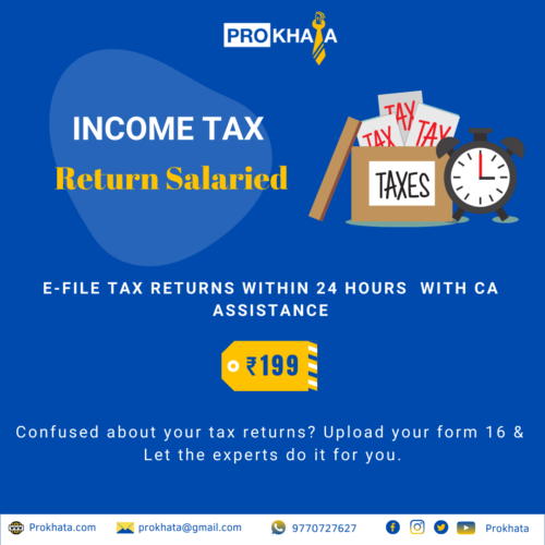 Salary Income Tax Return