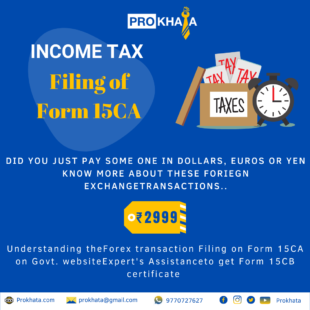 Filing of Form 15CA INCOME TAX