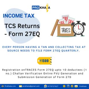 TCS Returns - Form 27EQ INCOME TAX