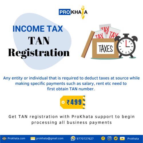 TAN Registration Income tax