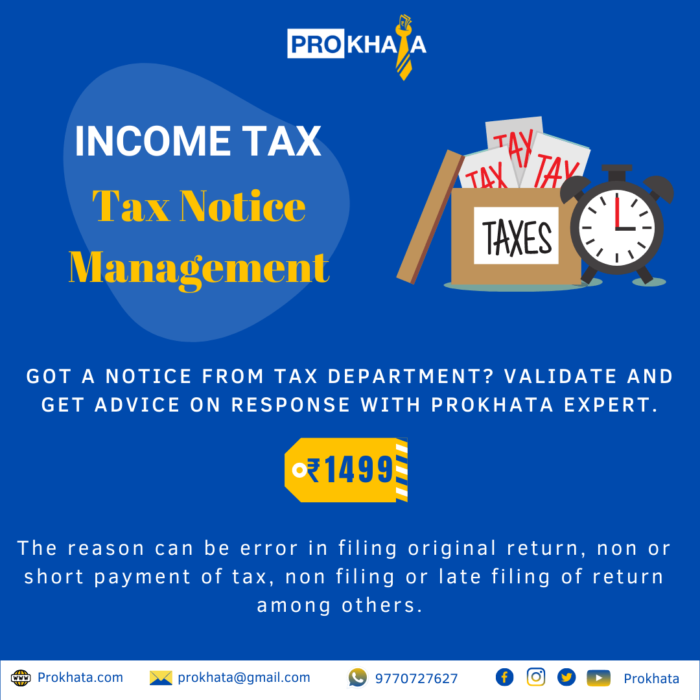 INCOME TAX NOTICE MANAGEMENT