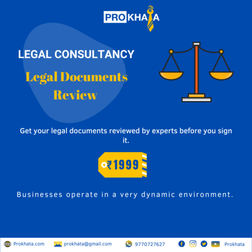 Legal Documents Review LEGAL CONSULTANCY