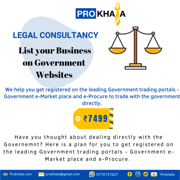 List your Business on Government Websites LEGAL CONSULTANCY