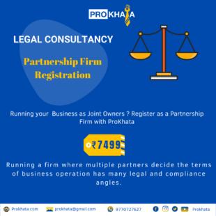 Partnership Firm Registration LEGAL CONSULTANCY