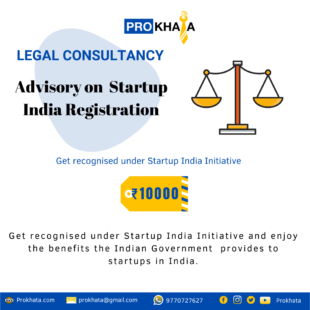 Advisory on Startup India Registration LEGAL CONSULATION