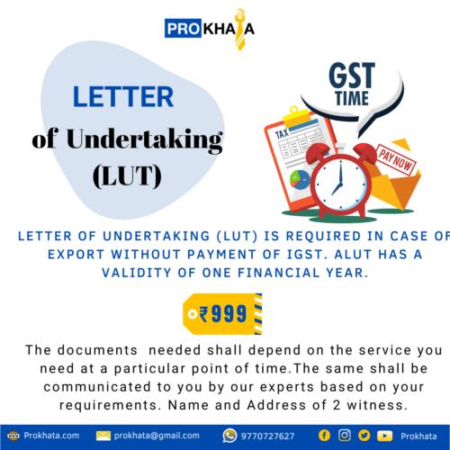 Letter of Undertaking (LUT)