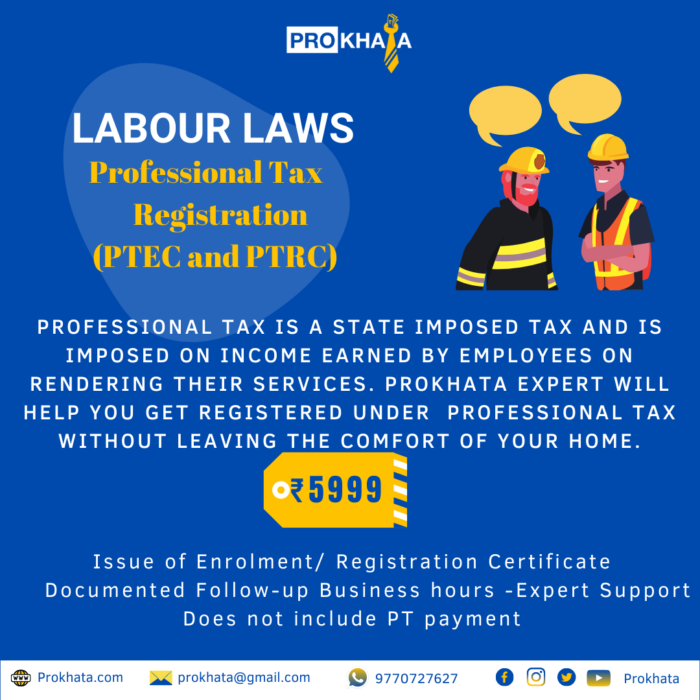 Professional Tax Registration (PTEC and PTRC)