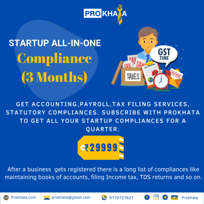 Startup All-in-One Compliance (3 Months)