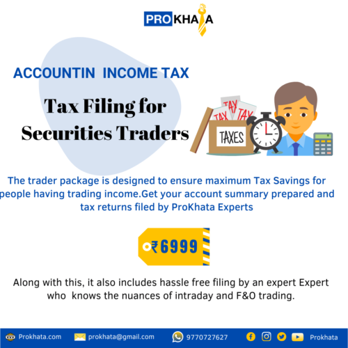 Tax Filing for Securities Traders
